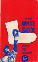 Chicago White Sox Official 1963 Scorebook vs. Los Angeles June 12 MLB Ba... - $15.32