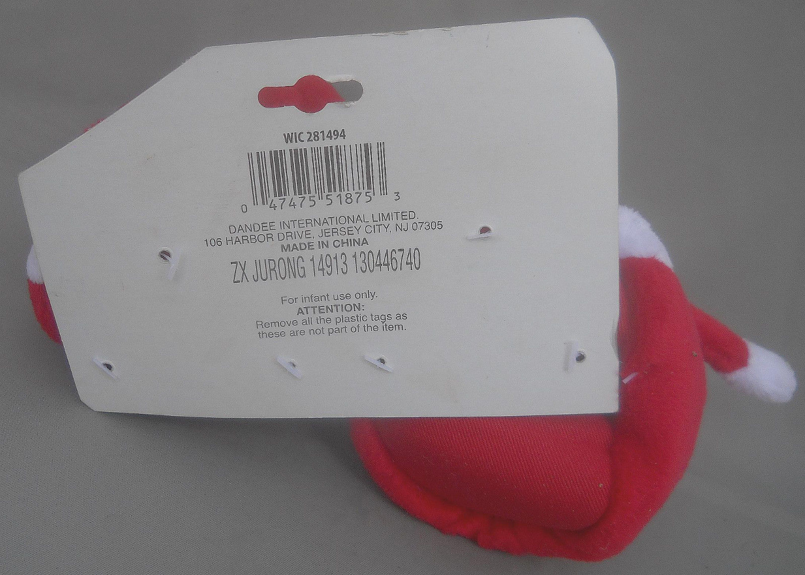 My First Christmas Baby Booties with Santa Hat Dan Dee 1 Size Fits All New fbb28a16aed