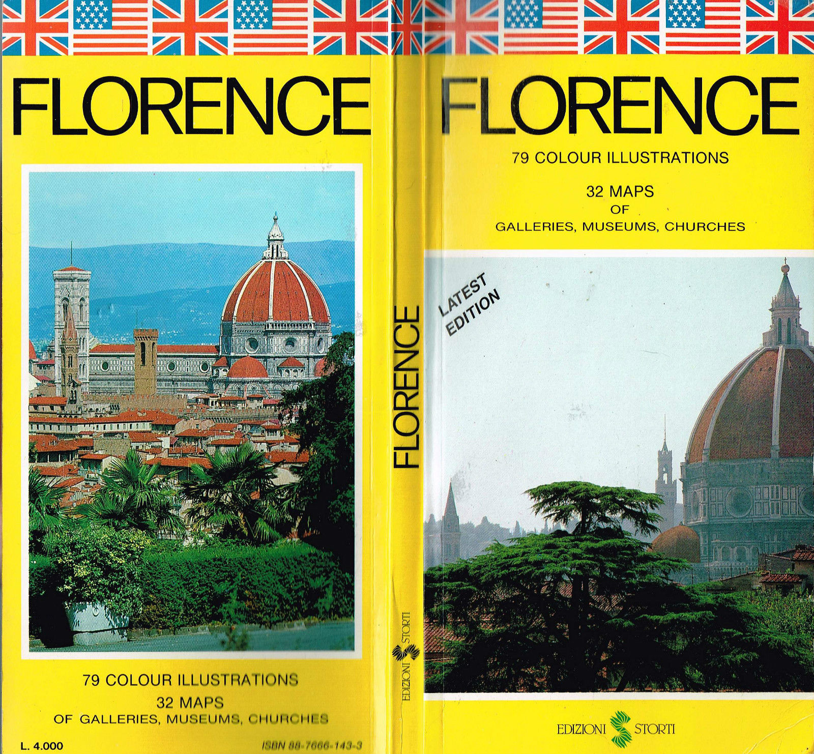 Italian Florence: Florence Italy Edizioni Storti 1992 Travel Guide Firenze