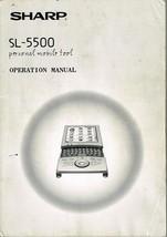 Sharp SL-5500 Personal Mobile Tool Operations Manual User's Guide  Manua... - $14.84