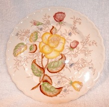 Vintage Yellow and Red Vernon Roses on California Pottery from Metlox - $32.00