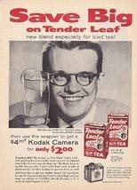 Tender Leaf Tea Kodak Camera Bill Cullen 1959 V... - $3.22