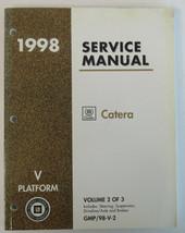 1998 Cadillac Catera Service Manual Volume 2 of 3 GMP/98-V-2 Used OEM - $16.19