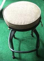 Patio Swivel Bar Stool with Cushion set of 4 outdoor cast aluminum furniture image 3