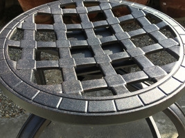 Patio Swivel Bar Stool with Cushion set of 4 outdoor cast aluminum furniture image 4
