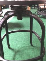 Patio Swivel Bar Stool with Cushion set of 4 outdoor cast aluminum furniture image 5