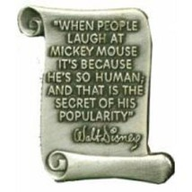 Disney WDW Walt Disney Scroll Quote #3 (.When People Laugh  .Popularity)... - $14.69