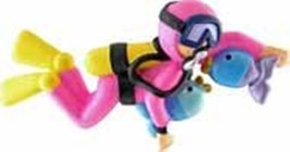 GIRL FEMALE SCUBA DIVER SNORKELING CHRISTMAS ORNAMENT GIFT PERSONALIZE F... - $13.81