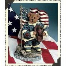 "Boyds Bears Crumpleton ""Our American Hero""  12.5"" Fireman Bear  #73110   New - $79.99"