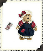 "Boyds Bear ""Bailey"" #9199-18 - 8"" Plush Patriotic Bear- 2002-  NWT- Retired - $29.99"