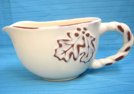Terracotta Gravy Boat Pitcher Creamer by Home China Autumn Design - $28.23