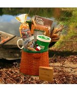 Gourmet Fishing Creel Gift Basket - Snacks and Treats for Your Fisherman! - $72.51