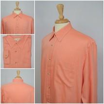 Joseph Abboud Men's Button Front Long Sleeve Shirt 100% Linen US Size L - $14.61 CAD