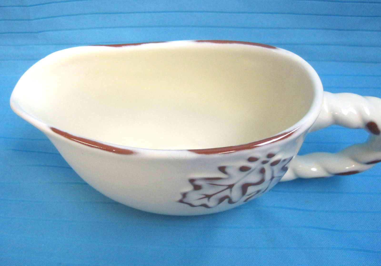 Terracotta Gravy Boat Pitcher Creamer by Home China Autumn Design