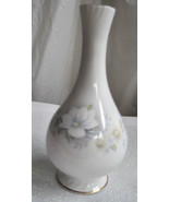 "Bud Vase England Fine Delicate Bone China Pale Blues Floral 6.5"" Tall - $22.99"