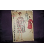 1950'S SIMPLICITY #3216 LADY WOMEN'S ROBE PATTERN-SZ 18-3 STYLES-LOUNGE-BEDROOM - $7.91