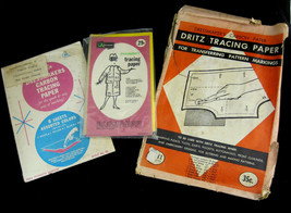 Vintage Lot Dressmaker's Tracing Carbon Paper Penn Karmin Dritz for Coll... - $19.21