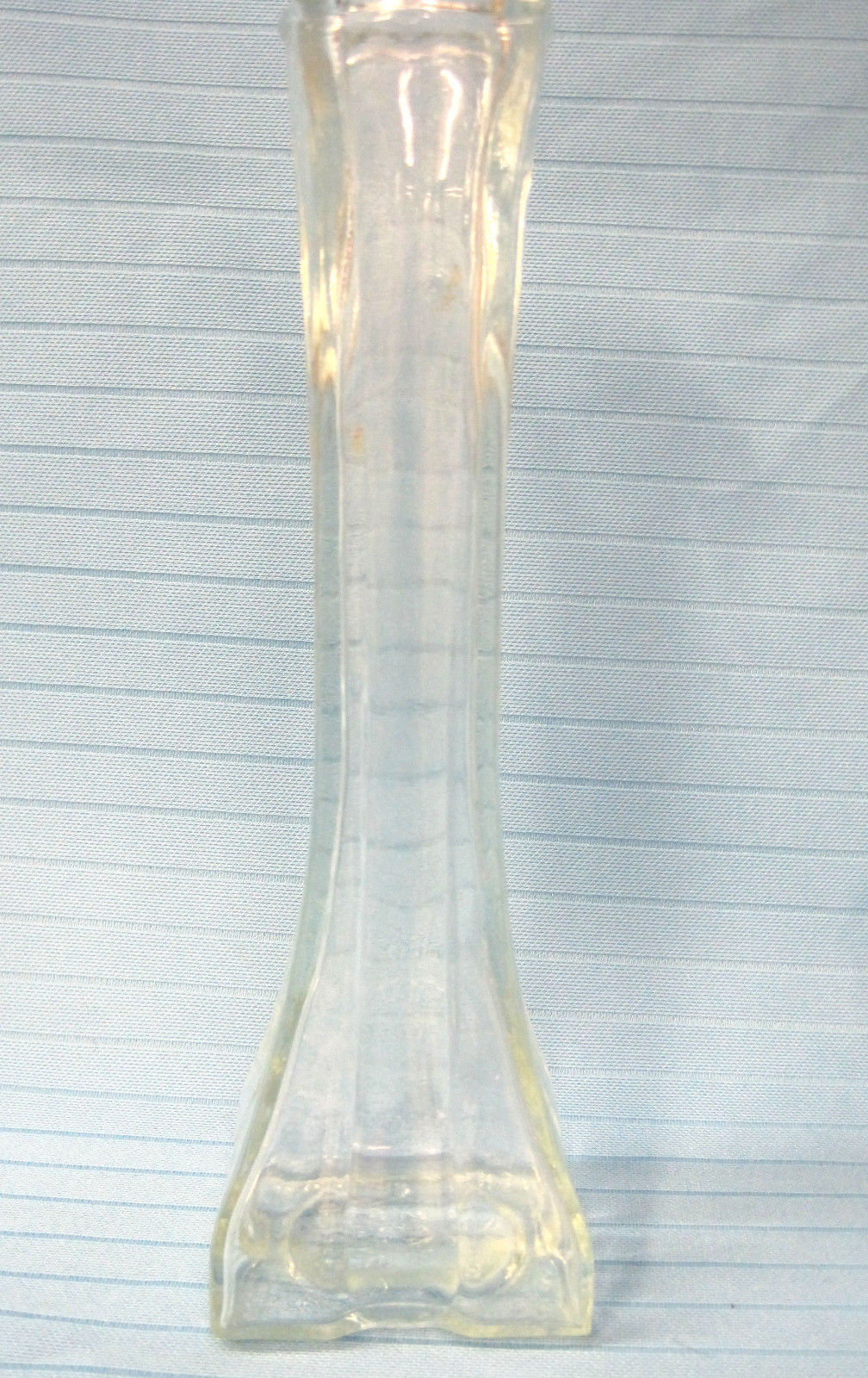 Primary image for Bud Vase Profile 1408 Europa #12 Square Top/Bottom Clear Pressed Glass 1986-87