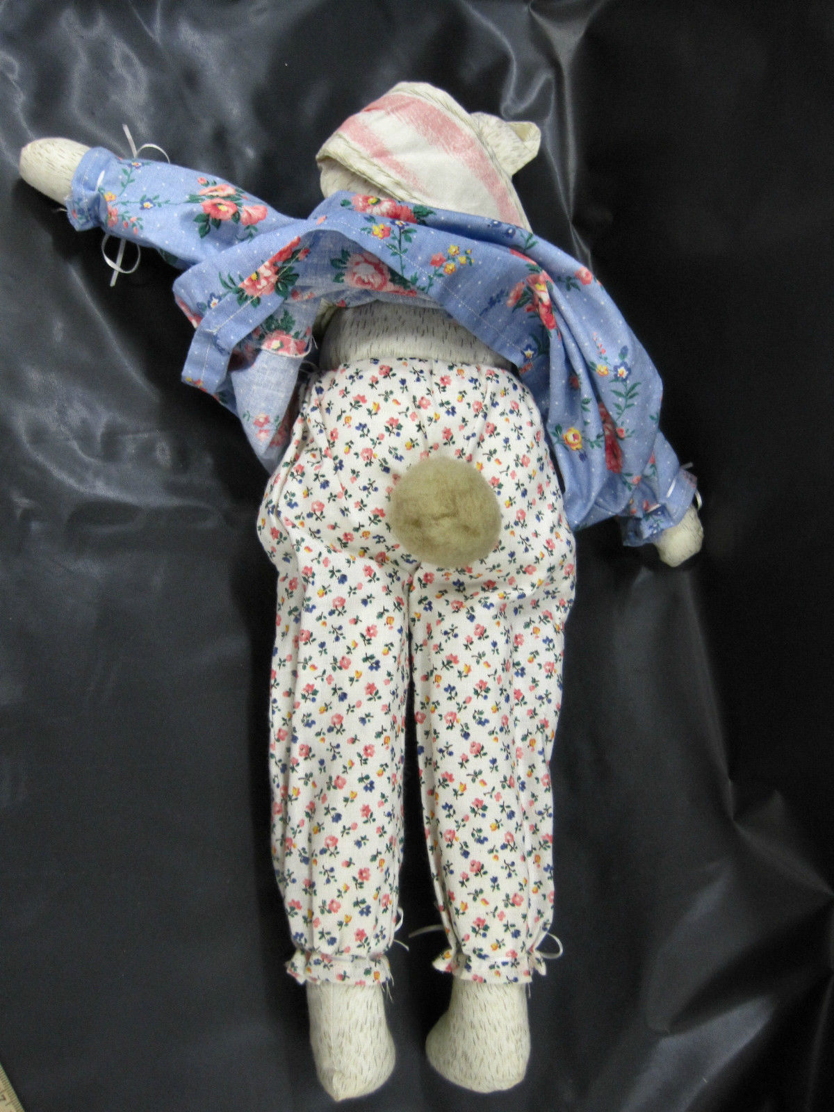 Primitive Bunny Rabbit Stuffed Easter Mom Babies Dress Pantaloons Puff Tail