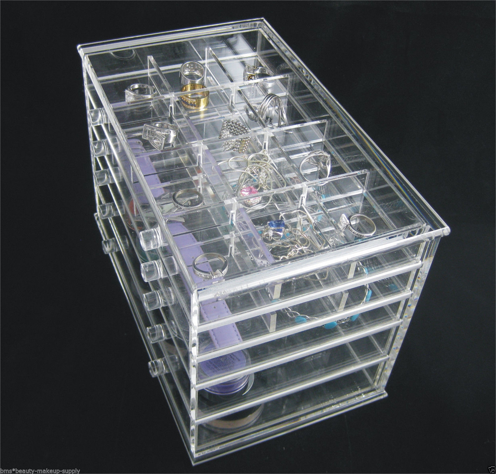 Acrylic Beauty Organizer 5 Drawer Counter Top Cosmetic