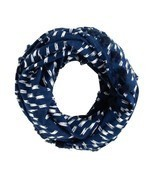J.Crew Blue Mixed Print Infinity Scarf - ₨2,165.49 INR