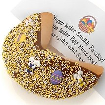Easter Decorated Giant Fortune Cookie with Your Own Personalized Fortune... - $44.09
