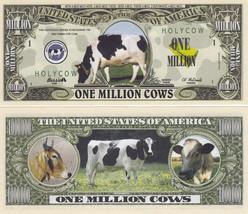 50 Cows One Million Dollar Novelty Bills # 322 - $11.87