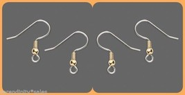 1 gross (144)  Stainless Steel Ear Wires ~ French Hooks w/ Gold Bead/Bal... - $9.56