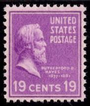 1938 19c Rutherford B. Hayes Scott 824 Mint F/VF NH - $2.49