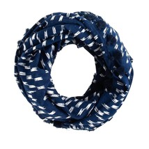 J.Crew Blue Mixed Print Infinity Scarf - £24.87 GBP