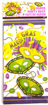 Mardi Gras Beads Party Celebration 10 Paper Party Loot Bags - $3.79