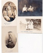 (4) Mayberry & Blankenfeld Family of Nebraska RPPC Photo Postcards - $69.50