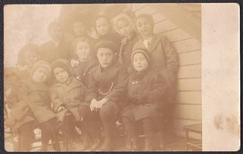 Odell, Illinois Identified School Children 1909 RPPC Photo Postcard - $17.50
