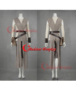 Movie Star Wars The Force Awakens Rey Dress Cosplay Costume Made - $85.00