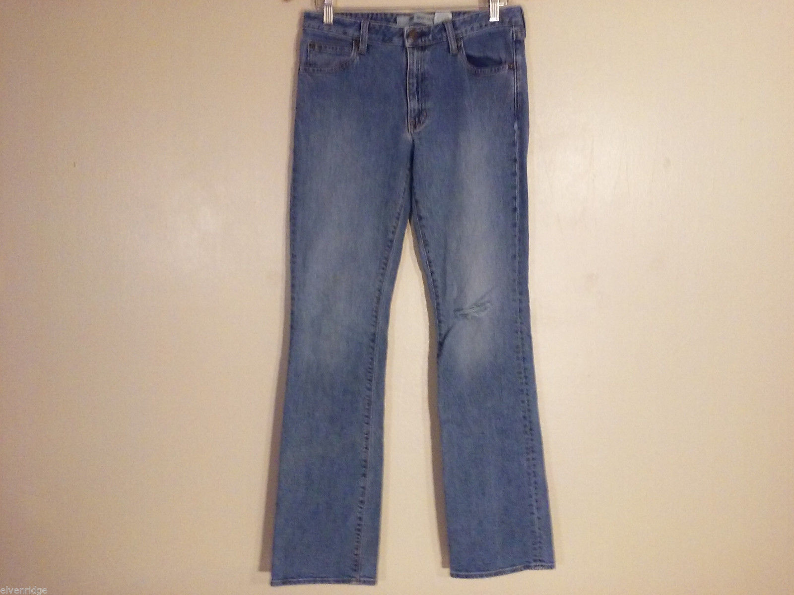 GAP Women's Size 8L Jeans Denim Boot Cut Stretch Distressed Knee Rip Detail