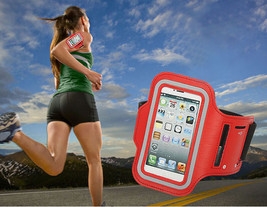 Sports Running Workout Gym Armband Case Cover Samsung Galaxy Note 3 4 Red - $5.86