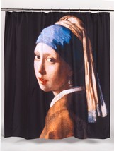 Girl with the Pearl Earring, Carnation Home Fashions Fabric Shower Curtain - $25.99