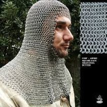 NauticaLMart Medieval Knight Butted Chainmail Coif - $99.00