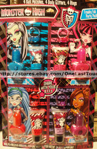 MONSTER HIGH* Party Pack POLISH+BODY GLITTER+RING Gift Set 4 INDIVIDUAL ... - $11.68