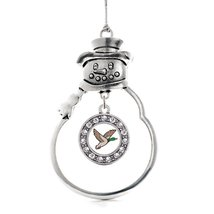 Inspired Silver Duck Season Circle Snowman Holiday Decoration Christmas Tree Orn - $14.69