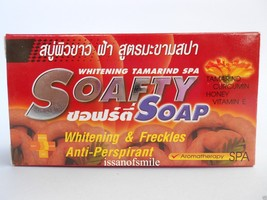 6 Bar Soafty Soap Tamarind Aromatherapy Spa Whitening & Freckles Anti-Pe... - $38.00