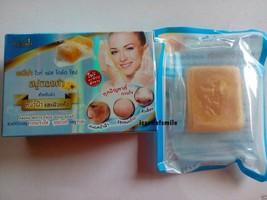 3 Bars Abena White Face Skin 24k Gold Soap Anti-Melasma Blemishes reduce... - $15.00