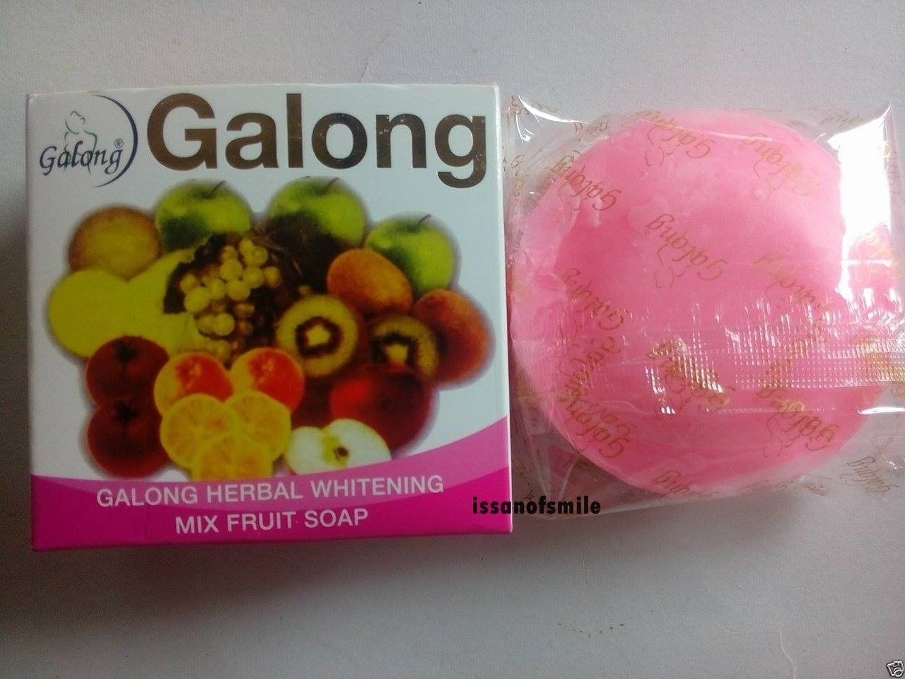 3 Bars Galong Herbal Whitening Mix Fruit Soap Cleansing Soft Skin & Smooth