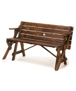 Picnic Table Wood Folding Garden Bench Park Seat Portable Patio Furnitur... - $168.25