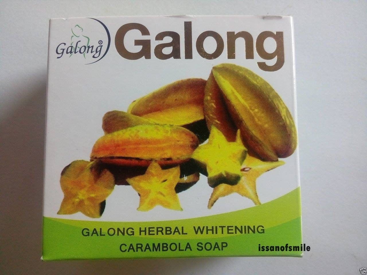 Galong Herbal Whitening Carambola Black Spots Blemishes Soap Cleansing 150g.