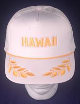 Vtg Trucker Hat-Hawaii Hat-Mesh Snapback-White-Hawaiian Headwear-Captain... - $19.65