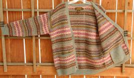Vintage Eddie Bauer Sweater-S-100% Wool-Button Down Cardigan-2 Pockets-4... - $55.78