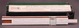 Mannheim Type Slide Rule 4053-Keuffel Esser Co New York-Pat1934232-Leath... - $112.19