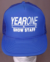 Year One Inc, Show Staff Trucker Hat-Blue-Mesh-3D Logo-Vtg-Classic Muscl... - $23.66