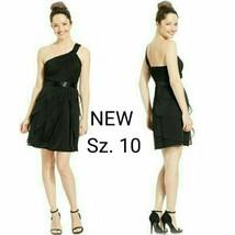 NWT Sz.10 Adrianna Papelle Black One-Shoulder Short Dress. - $45.00